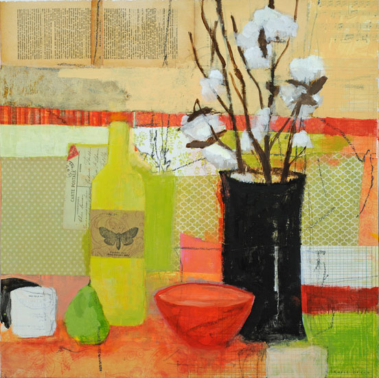 painting by laurie breen, bouquet d'hiver