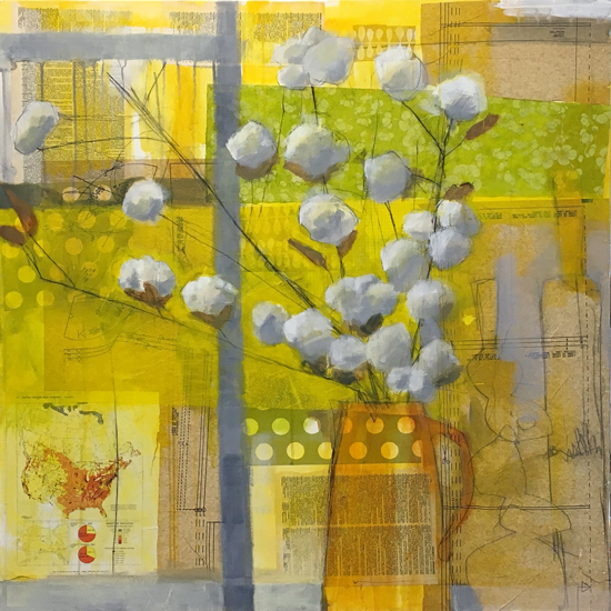 cotton in the window, by laurie breen